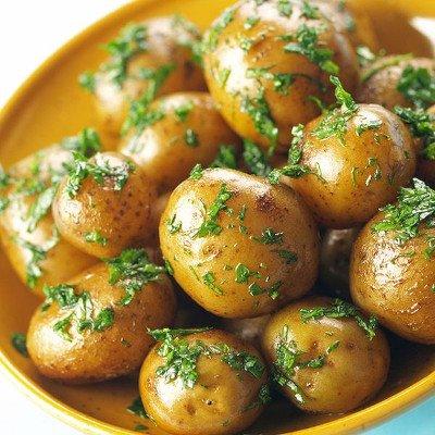 Бейби картофки и шунка