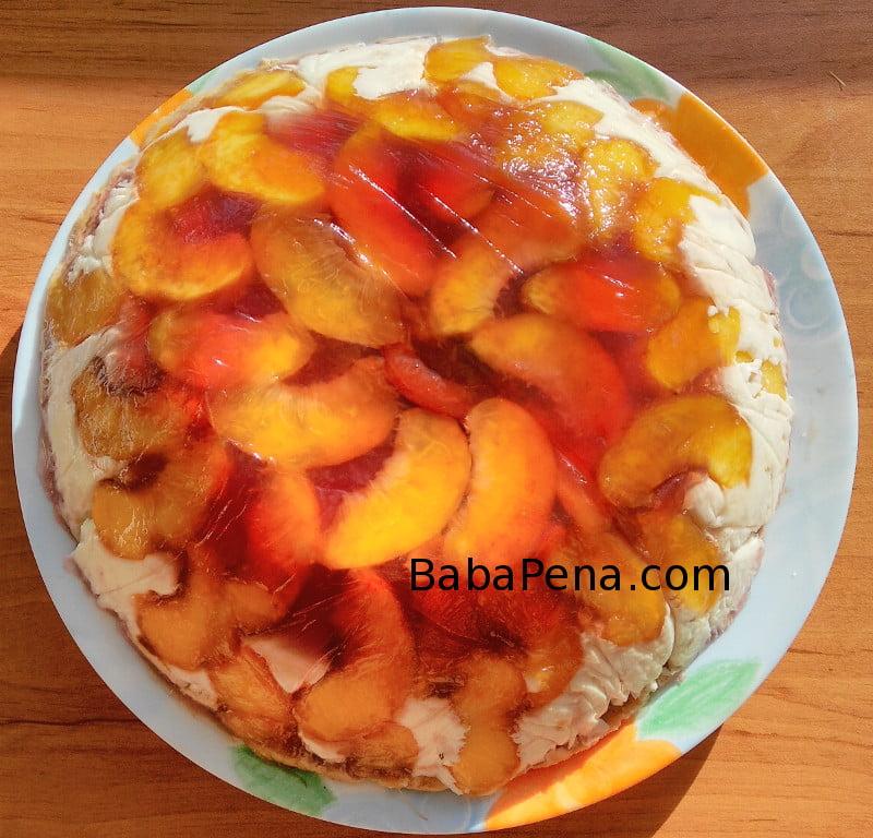 Лятна плодова торта без печене